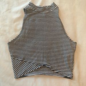 Hollister Striped Crop Top.  Size Small.